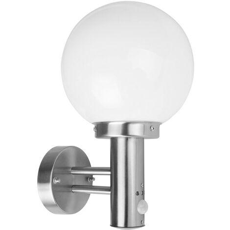 LAMPIONE alluminio APPLIQUE ALORIA EGLO LAMPADA DA ESTERNO 225x165mm