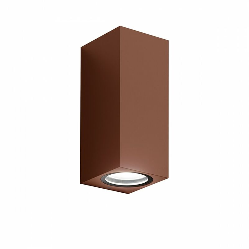 Applique alluminio ges915 gu10 led ip44 lampada parete biemissione classico esterno - Gea Led