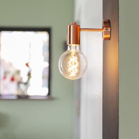 Applique art déco cuivre - Facil 1 Qazqa Design, Moderne Luminaire interieur Cylindre / rond