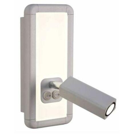Applique avec liseuse Mantra Ibiza Blanc Aluminium 5257