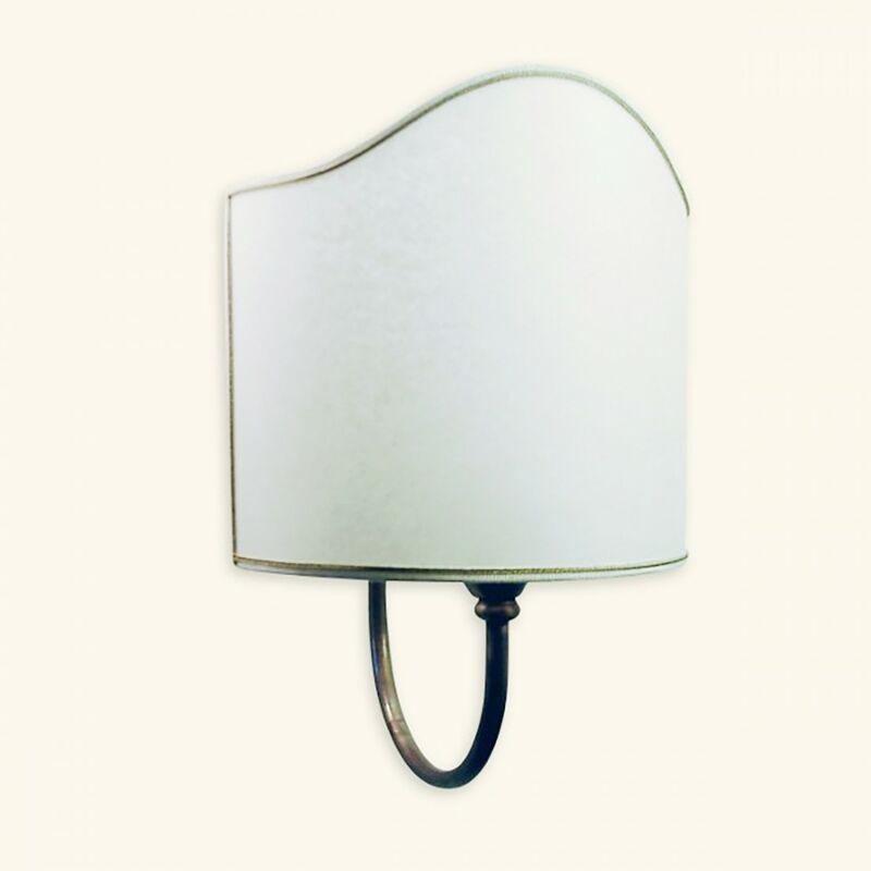 Applique ba-alki 1 luce grande lampada parete classica interno ottone stoffa e27 ip20 - LAMPADARI BARTALINI