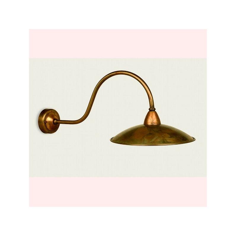 Lampadari Bartalini - Applique ba-criscu 30cm lampada parete rustica ottone esterno ip43