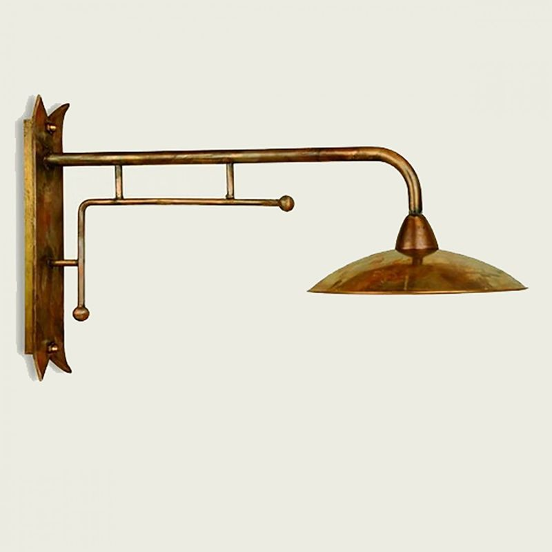 Lampadari Bartalini - Applique ba-crisdi 30cm lampada parete rustica ottone esterno e27 ip43