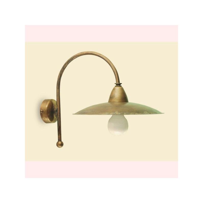 Applique ba-eligob eli ab26 piatto ottone lampada parete classica rustica interno ottone e27