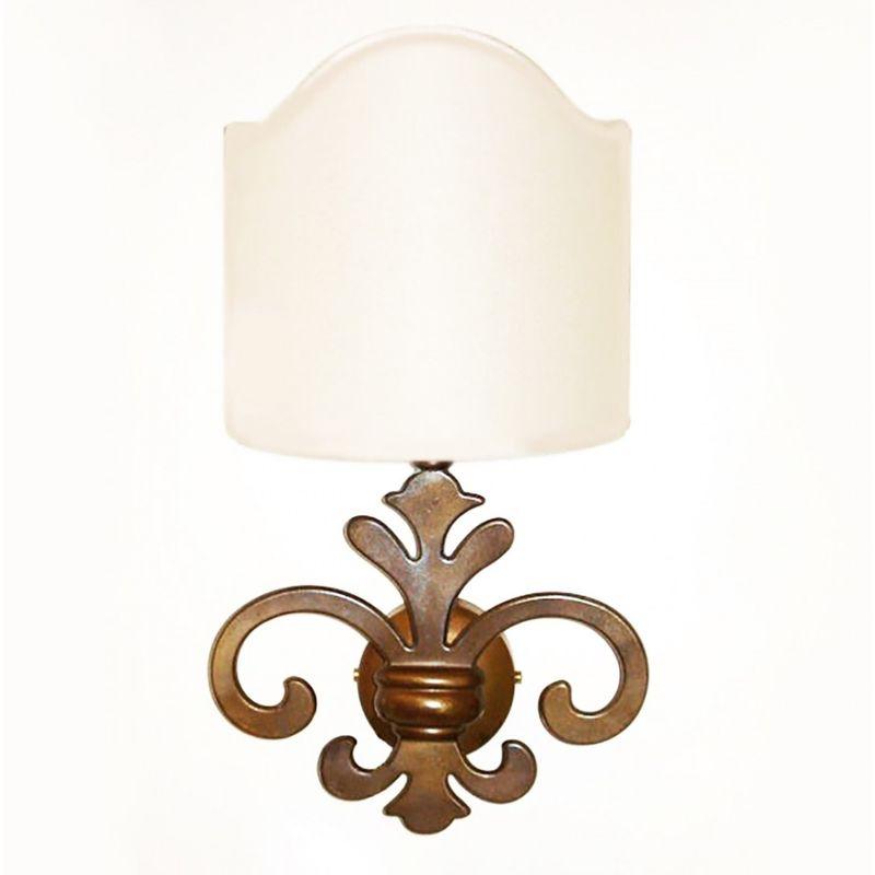 Applique ba-silvy ap1 e14 led ottone invecchiato lampada parete artigianale classica rustica interno, ventola pergamena accra - LAMPADARI BARTALINI