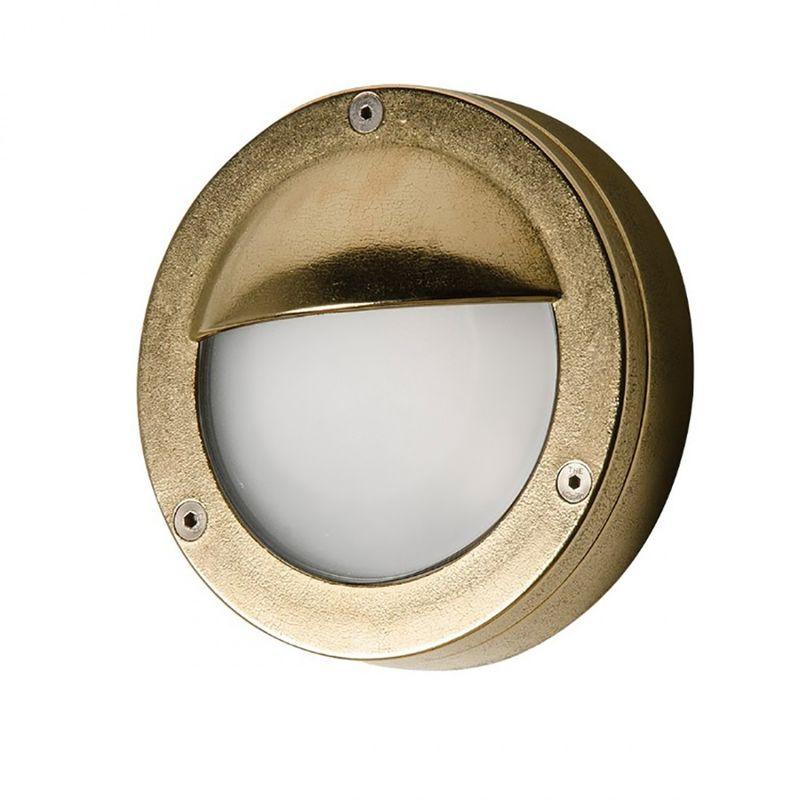 Applique sol 4 esterno ottone piccola lampada parete classica gx5.3 ip65 - Lampadari Bartalini