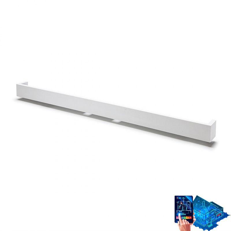 Belfiore-9010 - Applique belfiore 9010 2429b 32w led 3600lm 62cm wireless gesso verniciabile biemissione lampada parete moderna