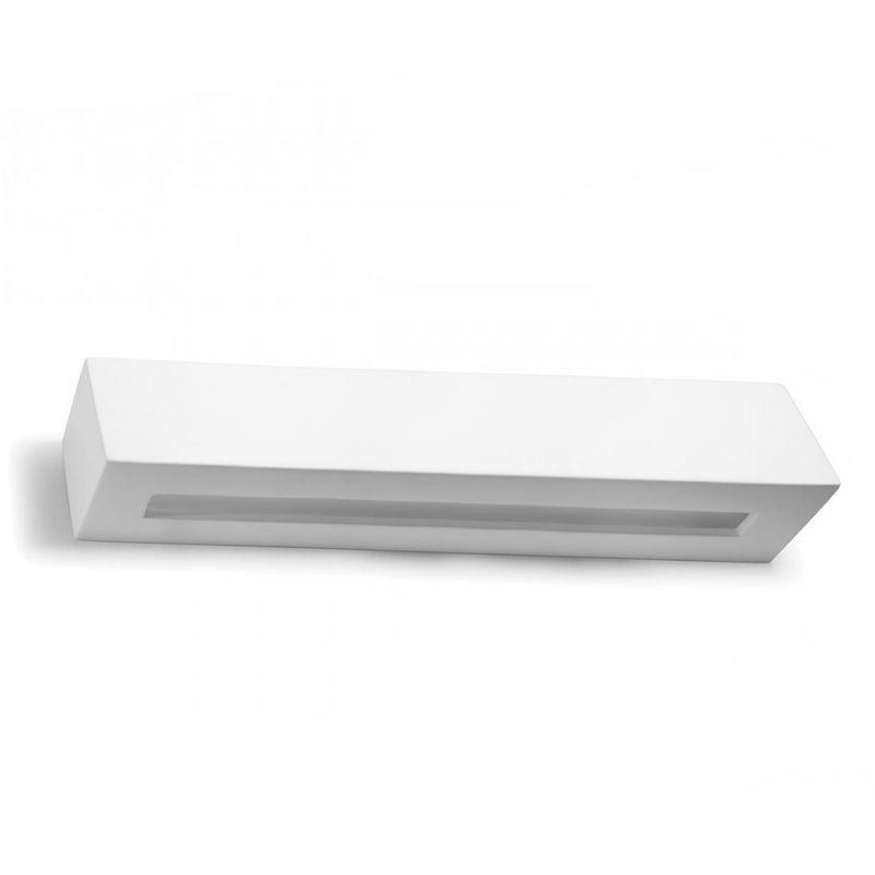 Applique bf-2020 52 g9 led 50cm gesso bianco lampada parete biemissione moderna interno ip20
