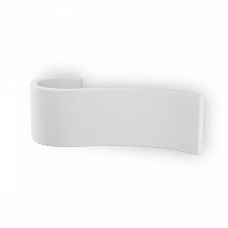 Applique bf-2615a g9 led 9010 belfiore gesso bianco verniciabile fascia lampada parete