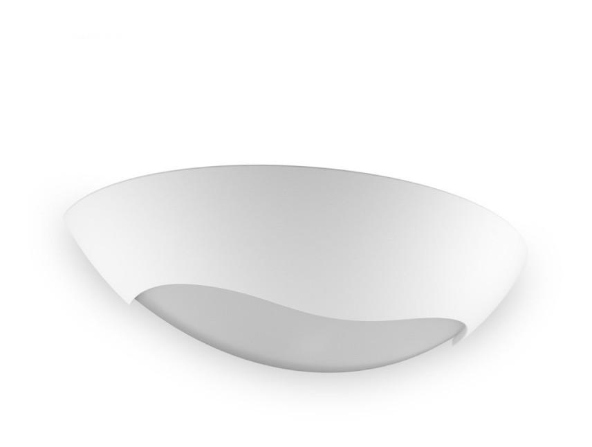 Applique bf 8258 3058 12w led gesso bianco verniciabile modulo