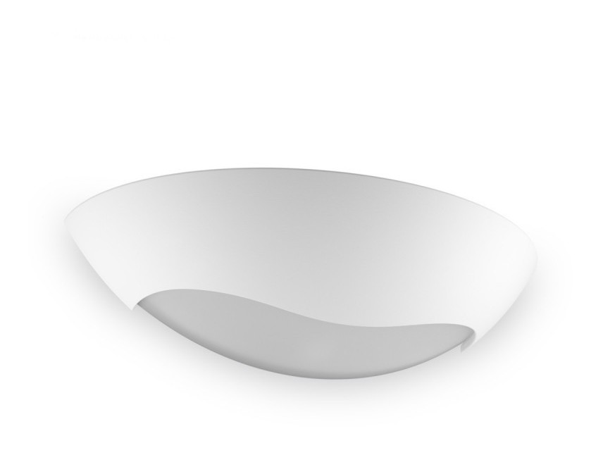 Applique bf r s gesso bianco verniciabile biemissione