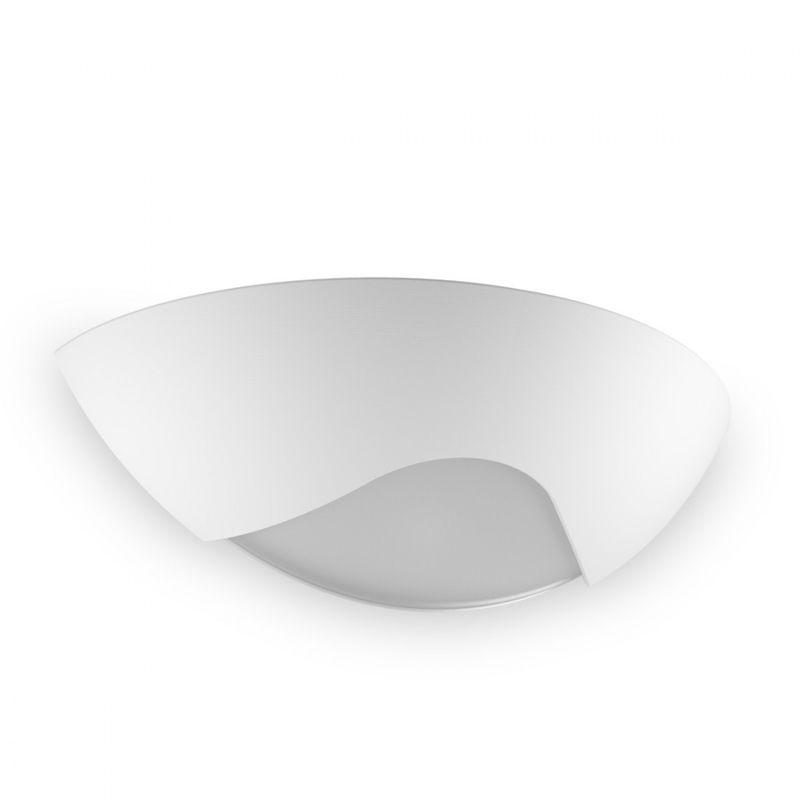 Applique bf  led w gesso bianco verniciabile
