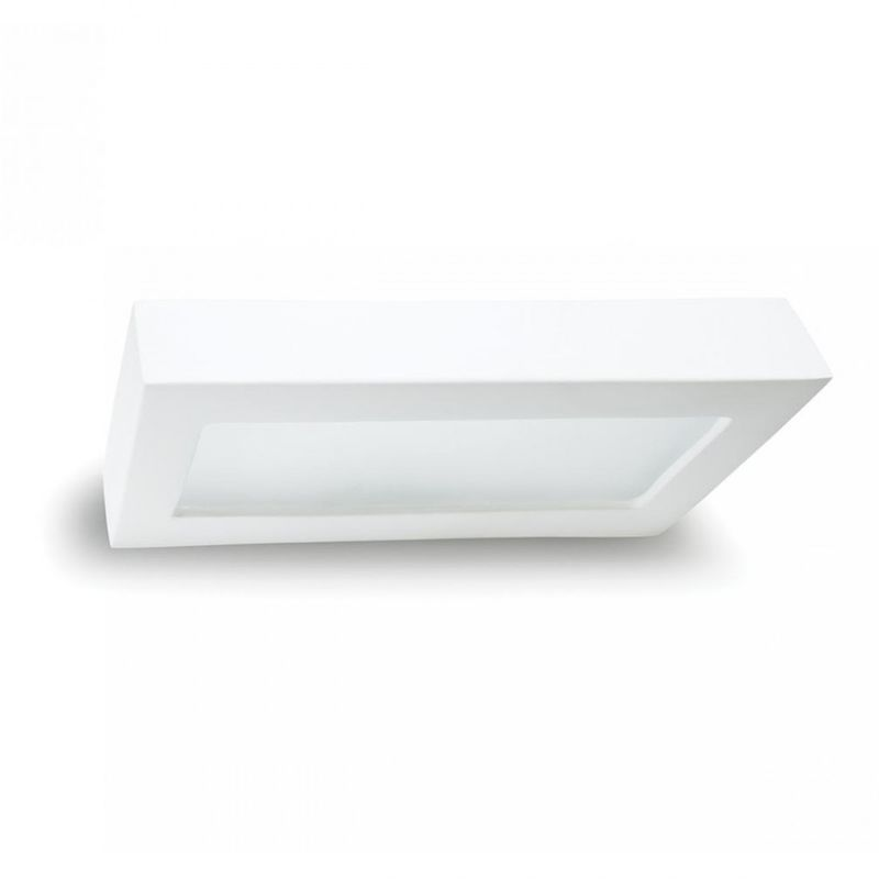 Applique bf-8284 3071 led 15w 2250lm gesso bianco modulo biemissione lampada parete rettangolare interno ip20