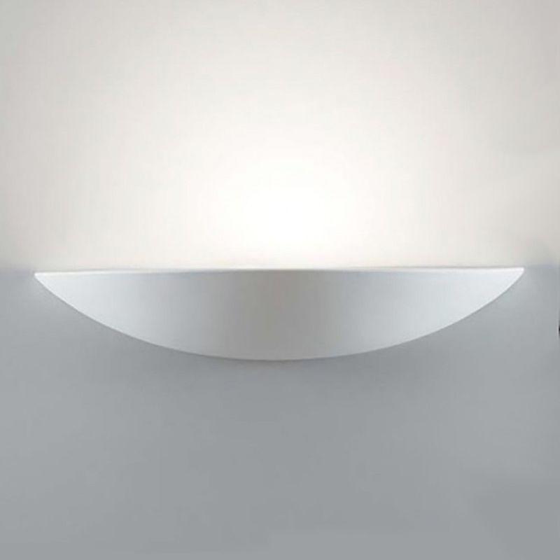 Applique bf-8336 51 45cm r7s led gesso verniciabile lampada parete vaschetta interno ip20