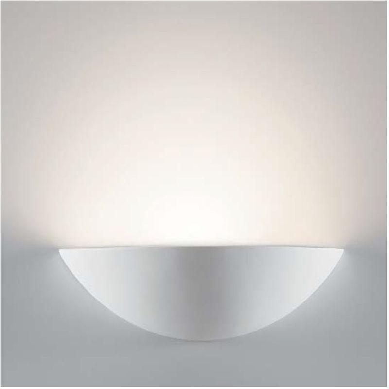 Belfiore-9010 - Applique bf-8428 51 r7s led 9010 belfiore gesso vaschetta verniciabile monoemissione dimmerabile lampada parete interno - BELFIORE