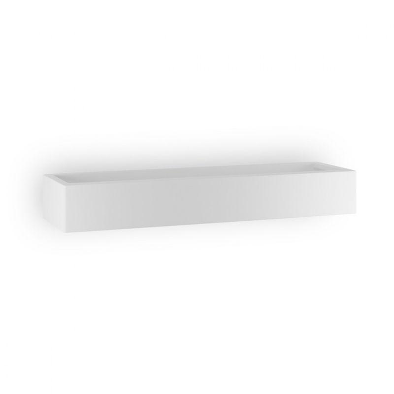 Applique bf-8431 51 49cm r7s led 9010 belfiore gesso bianco monoemissione lampada parete moderna