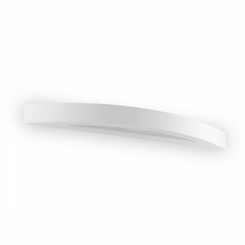 Belfiore-9010 - Applique bf-8759 led 18w 54.5cm fascia gesso bianco verniciabile vetro lampada parete interno ip20