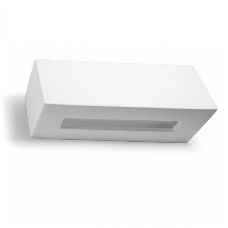 Belfiore-9010 - Applique bf-2018 52 g9 led 20cm 9010 belfiore gesso bianco lampada parete biemissione moderna interno ip20 - BELFIORE - 9010