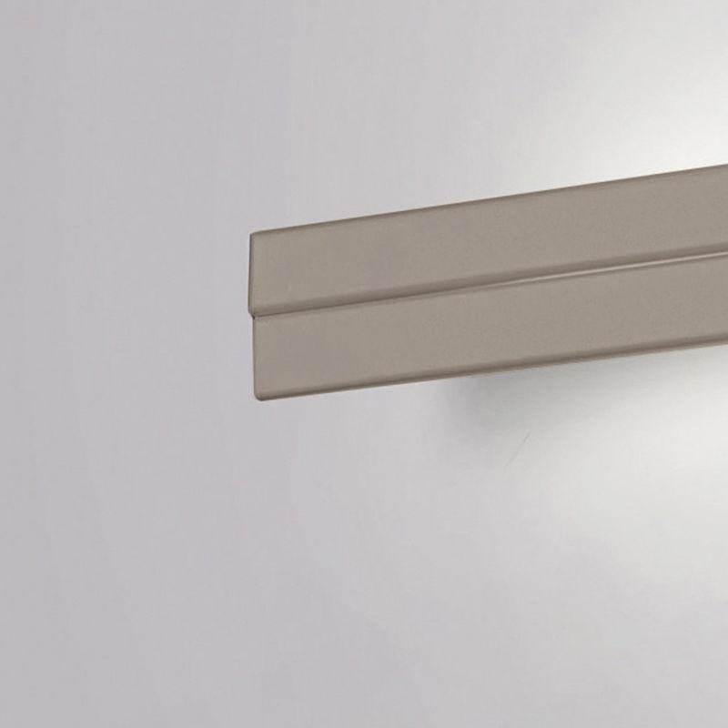 Cattaneo Illuminazione - Applique moderno cattaneo sesamo led 836 95pa 45w lampada parete orientabile metallo 100cm 6000lm 3000°k ip20, finitura