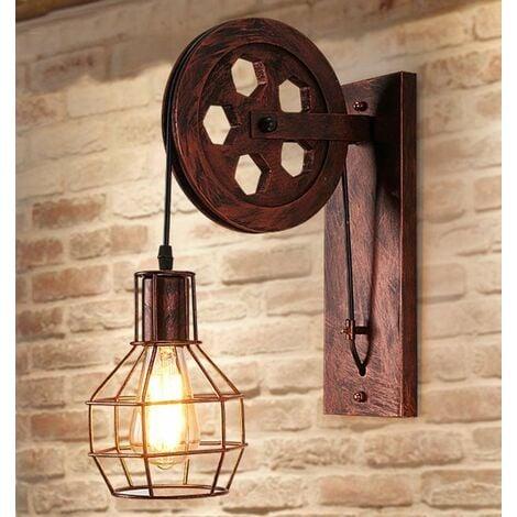 Applique Creative Style Industriel Rétro Lampe De Mur Loft Style