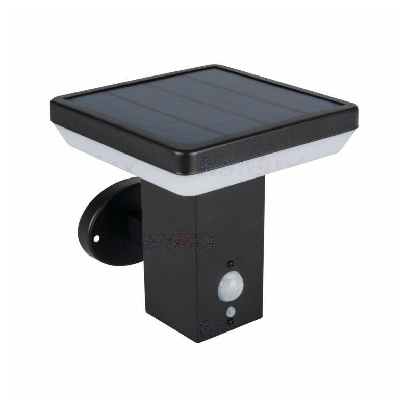 Applique da Muro Solare SOLCA L PV EL-B max 5w 4000K con Sensore di movimento IP44 - KANLUX / MI LIGHT