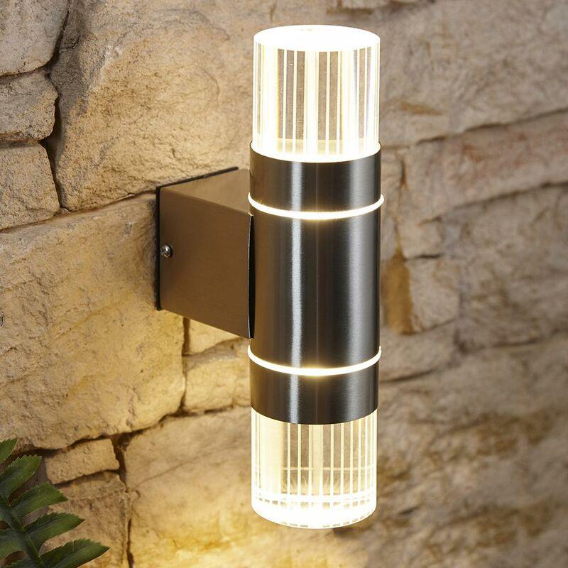 Applique da Parete a LED Biard Gell per Giardino Acciaio Inox
