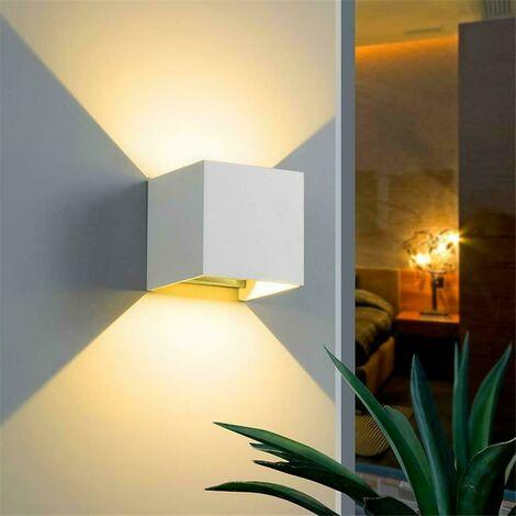 "main image of ""Applique da parete IP65 led Cubo per esterni 6w fascio Luce Regolabile 3000K LED"""