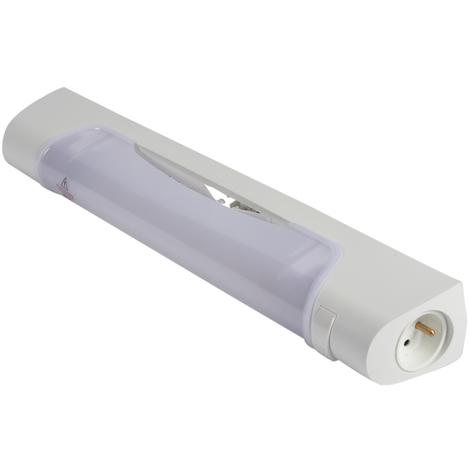Applique salle de bain avec lampe halogène Prismaline, interrupteur et  Prise 2P T