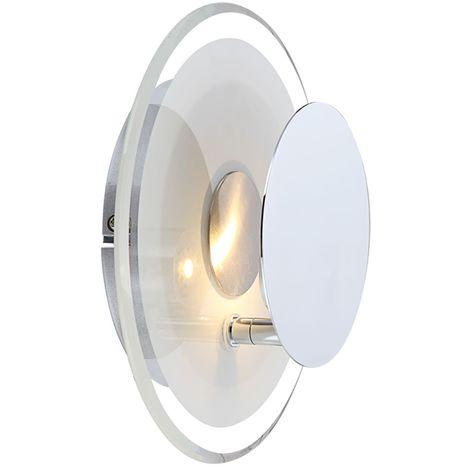 Trio-Lampes nickel//verre Wandstrahler Incl DEL-ampoules