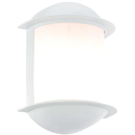 Extérieur Jardin Watts Luminaire Lampe Applique Del Led Mural Aluminium Blanc 7 vmN0n8wO