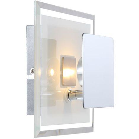 Lampe Carré Satiné Couloir Led Mural Éclairage Verre Del Luminaire Applique W2HEDIY9