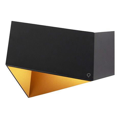 Applique Design noire avec doré - Fold Qazqa Design, Moderne Luminaire interieur