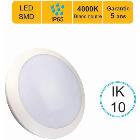Applique d'exterieur Hublot LED rond 16W 1200 LM 4000K IP66 IK10 - garantie 5 ans