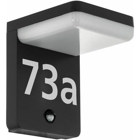Applique d'extérieur LED détecteur de mouvement numéro de maison éclairage jardin ALU lampe de cour noir Eglo 98092