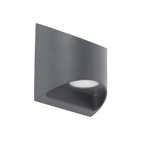 Applique d'extérieur Moderne Graphite / Antracite / Gris Foncé avec LED IP54 - Mal Qazqa Moderne Luminaire exterieur IP54 Globe