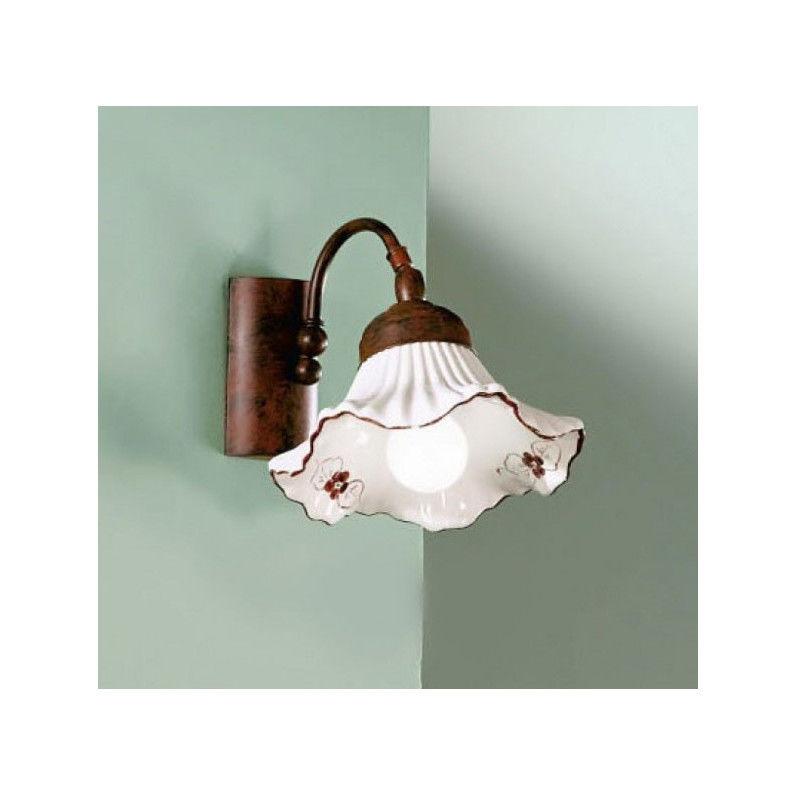 Applique due p anna e14 33w metallo ceramica classica lampada parete interno, colore blu, n- luci 1 - DUE P ILLUMINAZIONE