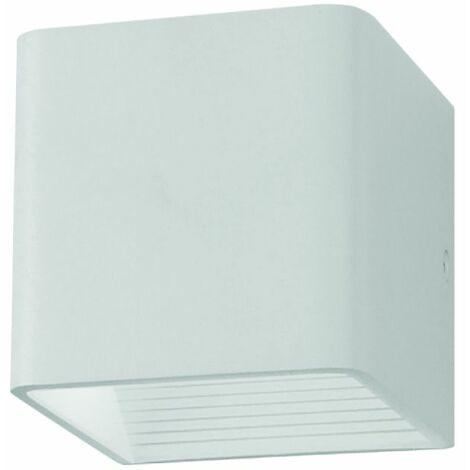 Applique du jardin LED 5W Corps Aluminium Carré IP20 Mod. VT-758 sku 7085 Blanc chaud 3000k Blanc