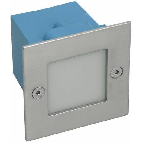 Applique encastrable LED extérieure étanche carré 0,6W