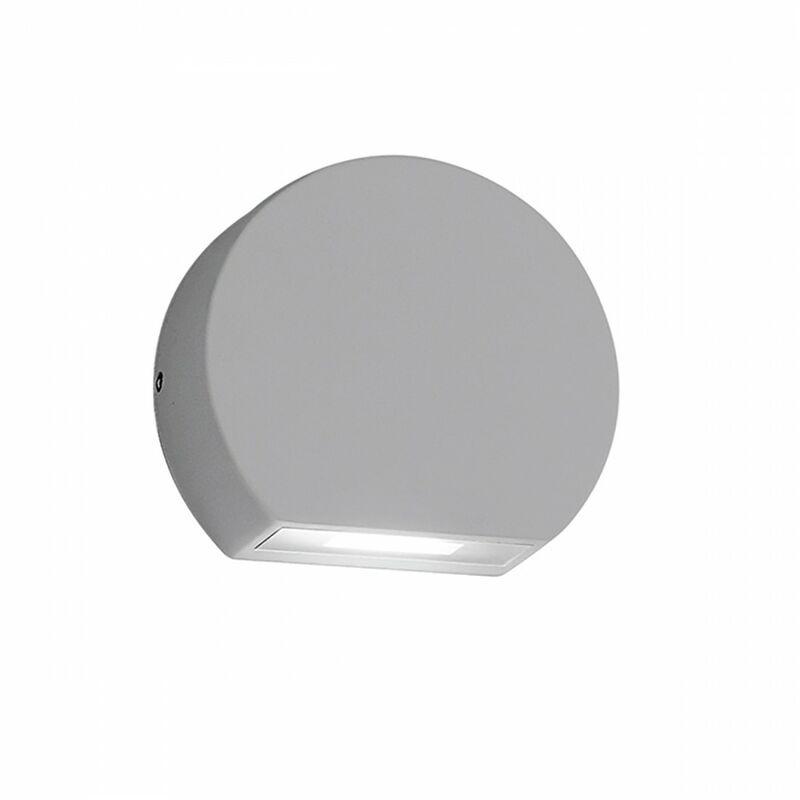 Applique esterno alluminio gea led ges892 led ip54 lampada parete segnapasso moderna, tonalità luce 4000°k (luce naturale)