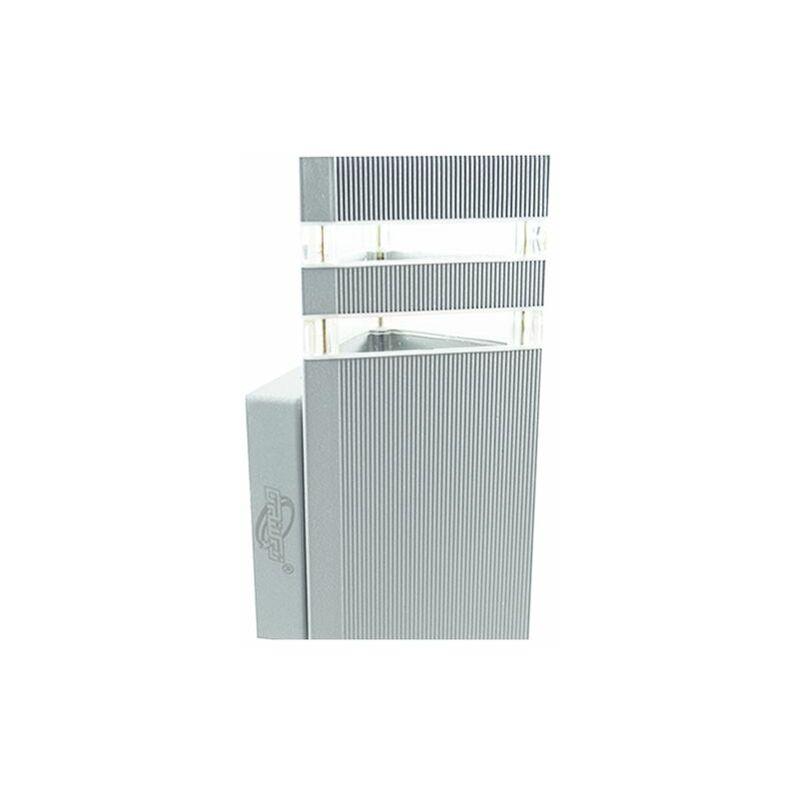 Applique esterno bianco triangolare lampada luce parete attacco faretto e27 dr