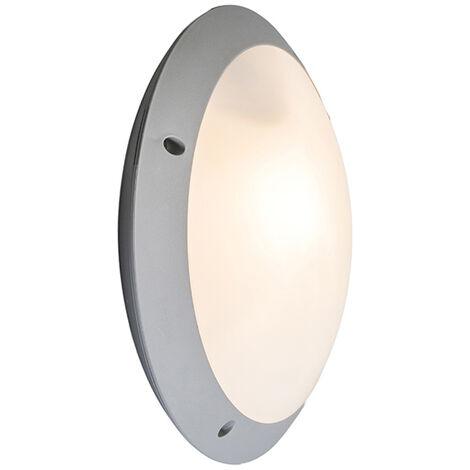 Applique et plafonnier gris IP65 - Lucia Qazqa Moderne Luminaire exterieur IP65 Rond