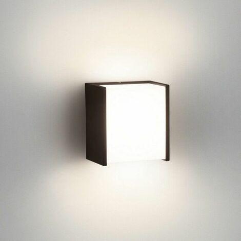 Applique extérieur cube Macaw IP44 LED H13 cm - Noir - Noir