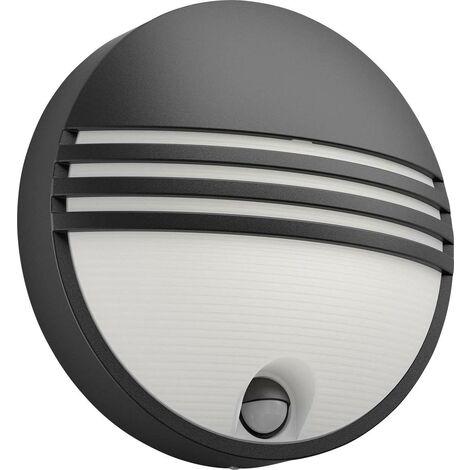 Applique extérieure avec détecteur de mouvement Philips Lighting Yarrow 172973016 LED intégrée Puissance: 6 W blanc