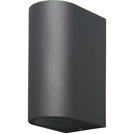 Applique extérieure bidirectionnelle Mantra Kandanchù Gris anthracite Aluminium 6510