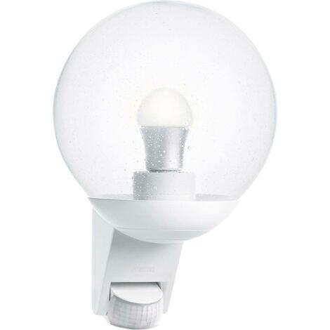Applique extérieure globe L 585 blanc detecteur 60W E27