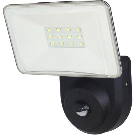 Applique extérieure LED tête orientable avec détecteur - Dhome - 7 W - Noir et blanc