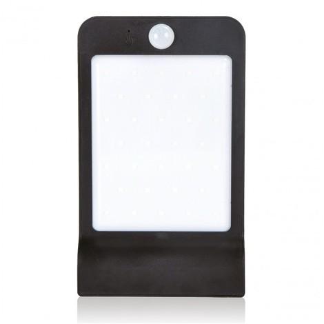Applique extérieure solaire LED 250lm noire 135X90X75mm autonome à détection de mouvement 180° IP44 NITYAM LDSOL_250LM_704