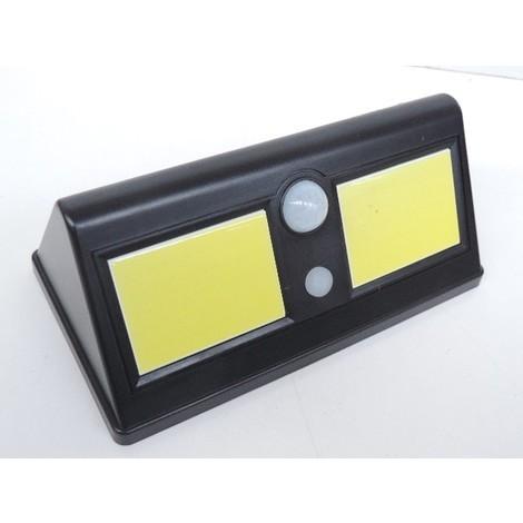 Applique extérieure solaire LED 350lm noire 211X115X86mm autonome à détection de mouvement 110° IP44 NITYAM LDSOL_350LM_703
