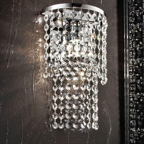 Applique Fb Charleston 557 A1 E27 Led Cristallo Lampada Parete Gocce