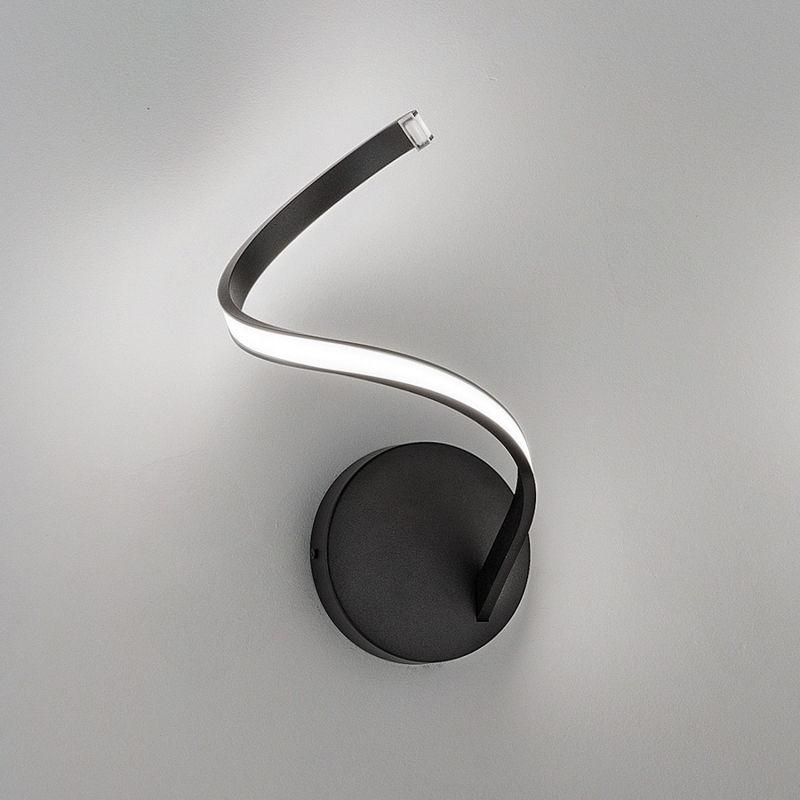Applique fb-tape 2133 a1 10w led 1000lm metallo bianco nero lampada parete soffitto moderna ultramoderna interno, finitura metallo bianco - FRATELLI